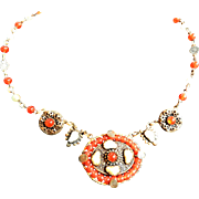 Exceptional Early 1900s Czech Carnelian Necklace