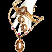 Fabulous Hobe Cameo Necklace Bracelet Earrings