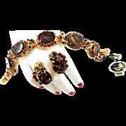 Hard to Find juliana Tiger Stripe Bracelet and Earrings