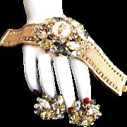 Vintage Hobe Breathtaking Huge Bracelet and earrings