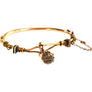 Victorian Cannentille Ball Gold Filled Bracelet