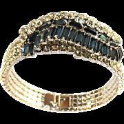Gorgeous Montana Blue Vintage Baguette and clear Bracelet