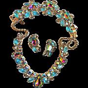 Exquisite Watermelon Necklace Bracelet Earrings vintage Grand Parure