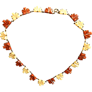 Gorgeous Czech Early 1900s Step Glass Necklace