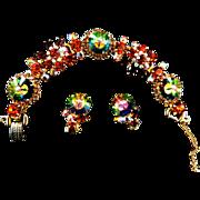 Exquisite Juliana Margarita Vintage Bracelet and Earrings