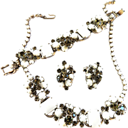 Juliana White Necklace Bracelet Earrings Parure