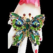 Breathtaking Juliana Huge Margarita Butterfly Brooch