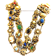 Cameos, Scarabs and Stars Oh My Goldette Slide Bracelet