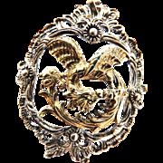 Mystical Vintage Griffin 835 Silver European Vintage Pendant