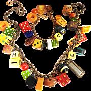 The Beauty Of Bakelite Necklace and Bracelet Vintage