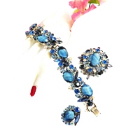Gorgeous Juliana Art Glass Bracelet Earrings Brooch