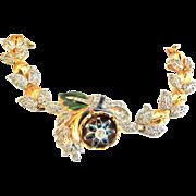 Quivering Camelia Vintage 1940s Bracelet