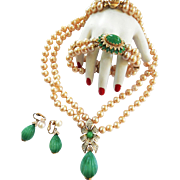 Return to Elegance Magnificent Mogul Jewels Panetta Necklace Bracelet Earrings