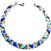 Spectacular 1970s Mexican Sterling Silver Collar Necklace