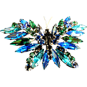 Gorgeous Large vintage Austrian Butterfly Brooch