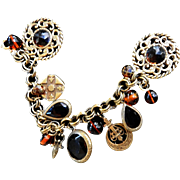 Lots of Noise Charmed I am Sure Big Charm Bracelet Vintage