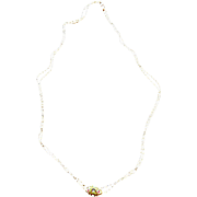 Victorian Pocket Watch Chain with Opal Slide or Necklace