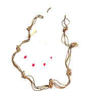 Long Vintage Gold Colored Knotted Necklace