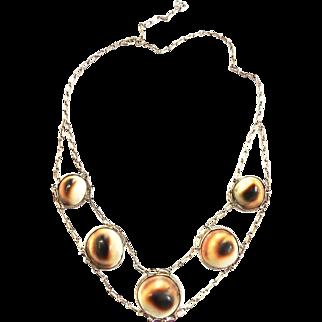 Gorgeous 1940s Operculum Shell Necklace