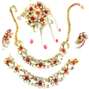 Fabulous Juliana Satin Stone and Hyacinth Grand Parure