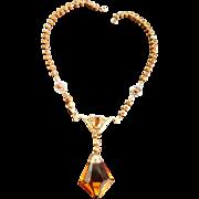 Spectacular Topaz Early 1900s Czech Necklace