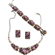 Fabulous Barclay Hard to Find Color Combination Amethyst Parure