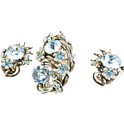 Gorgeous Hollycraft 1954 Brooch and Earrings
