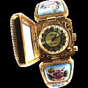 Russian Hand Painted Porcelain Vintage Bracelet Watch