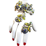 Show Stopping Millefiori Clamper Bracelet Juliana Vintage 50s