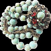 Exquisite DeMario Turquoise Matrix Jewel Enhanced Bracelet