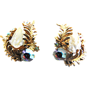 Har Dragon Tooth Vintage Clip Earrings