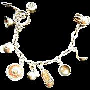 1940smsterling silver Charm Bracelet