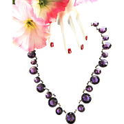 Early 1900s Amethyst Necklace  Czech Necklace Must C