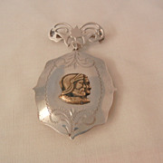 Outstanding Edwardian Sterling sweetheart Kings soldiers Locket Brooch