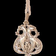 Fantastic rare Art Nouveau sterling French design double dragon Necklace