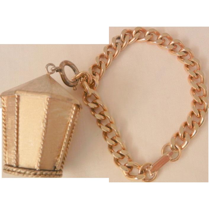 Trifari Vintage Triege perfume lantern Charm Bracelet