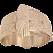 Fantastic Deco bold buckle etched bangle Bracelet