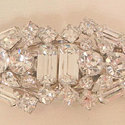Gorgeous Art Deco rhinestone fur clip Duette Brooch Excellent Condition