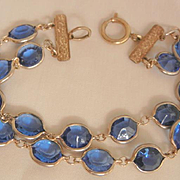 Beautiful Sapphire color Austrian crystal double strand Bracelet