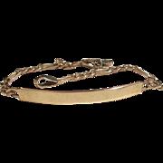 Vintage 14k gold identification Figaro Link Bracelet 10 Grams