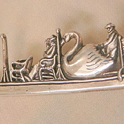 Sterling MFA Boston Swan Boat Brooch