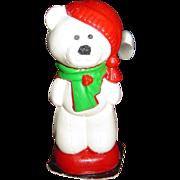 Vintage Gurley Christmas Bear Candle