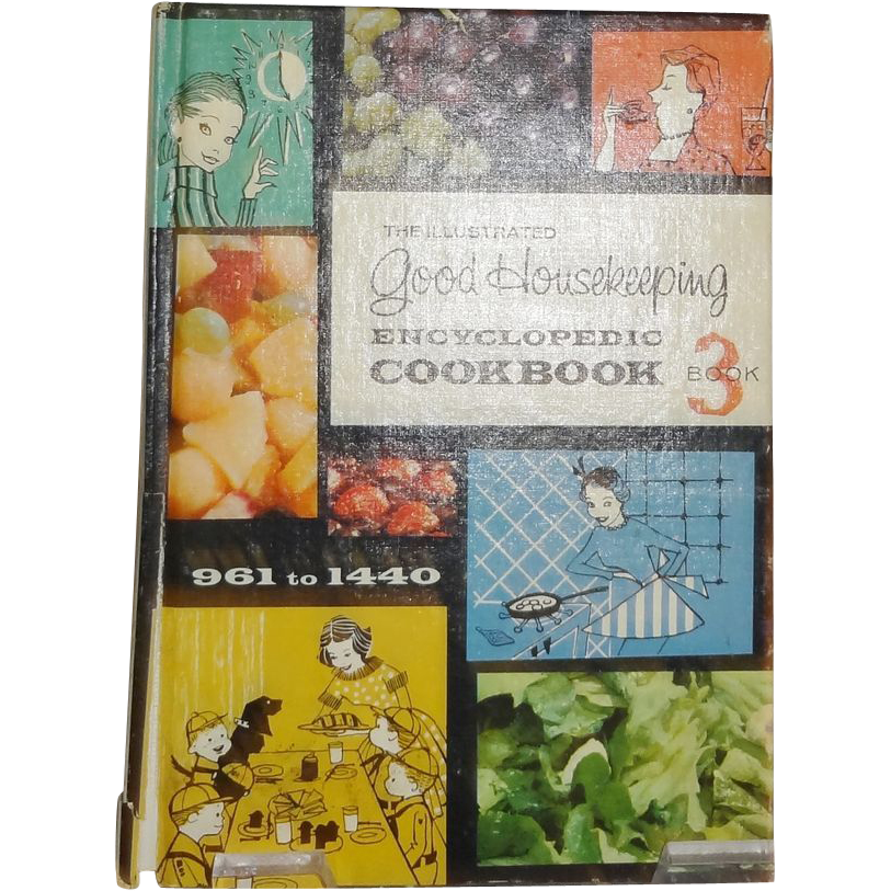 The Illustrated Good Housekeeping Encyclopedic Cookbook Book  c.1965