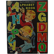 Vintage 1959 Cut 'n Stick - Color Alphabet Book
