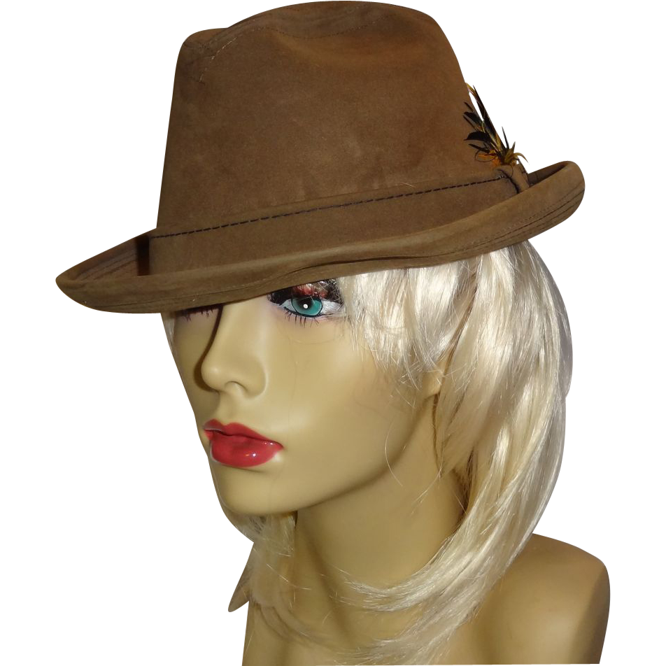 Classy Vintage Suede Fedora by Champ