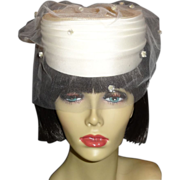 Elegant Vintage Off White Wedding Hat by Plaza Suite