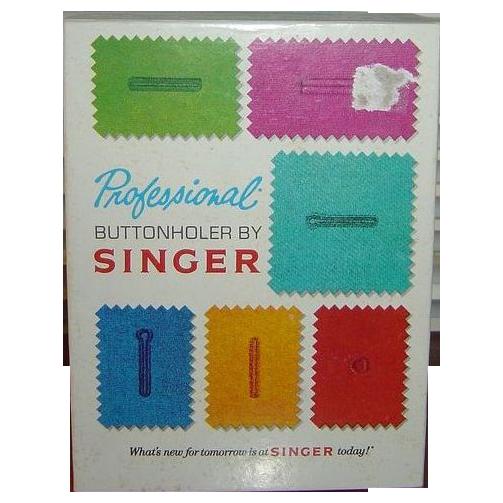 Singer Professional Buttonholer for Slant-Needle Zig-Zag Sewing Machines