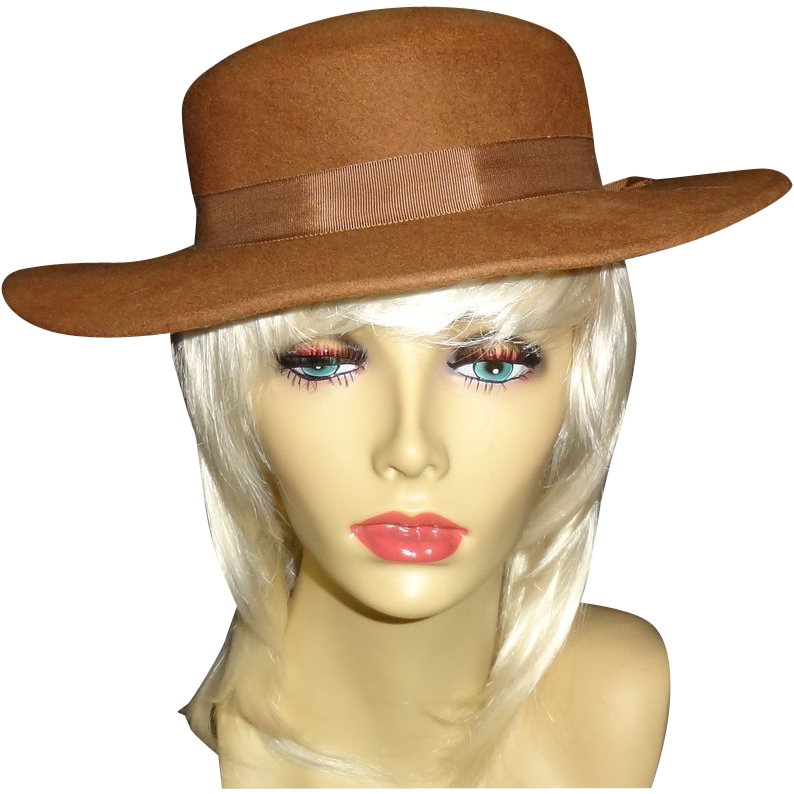 Vintage  Brown100% Wool Hat