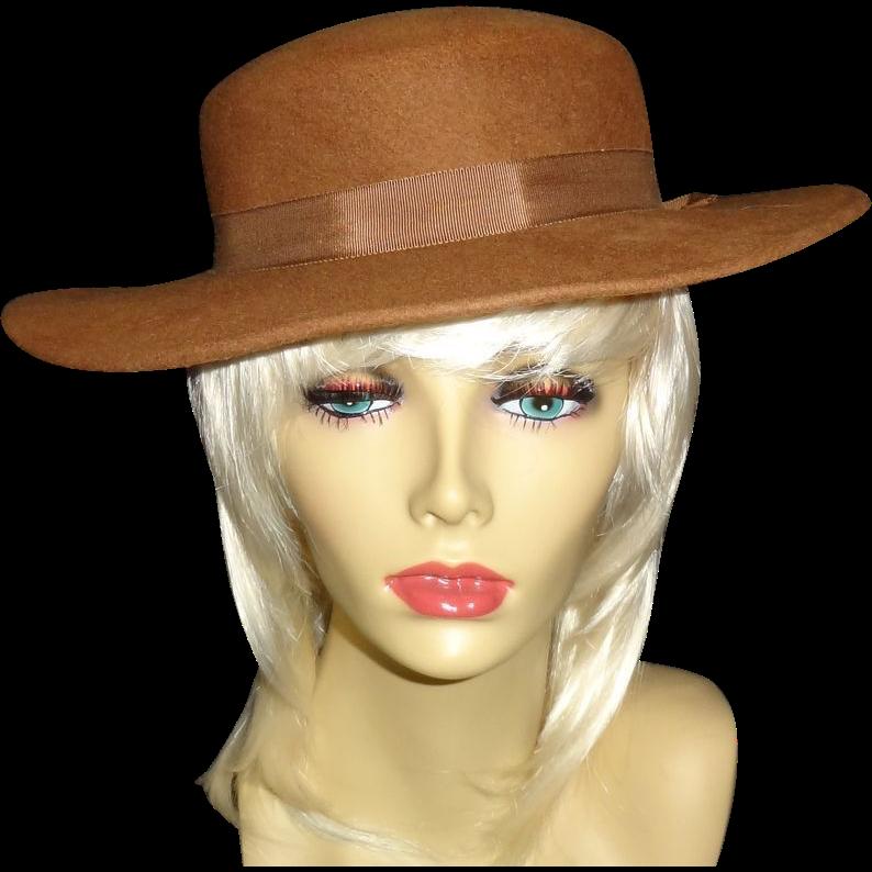 Vintage  Brown100% Wool Hat