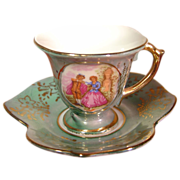 Miniature China Cup and Saucer made in Japan by Richard